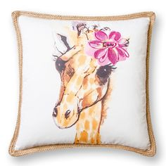 VCNY Giraffe Cotton Throw Pillow | AllModern