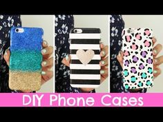 DIY Phone Cases   Three Designs Cute & Easy! - YouTube