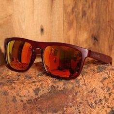 Wayfarer Style Wine Red Frame and Revo Red Lens Wood Sunglasses Oakley Sunglasses, Sunglasses Case, Real Wood, South Africa, Wayfarer, Bamboo, Lens, Frame, Beautiful