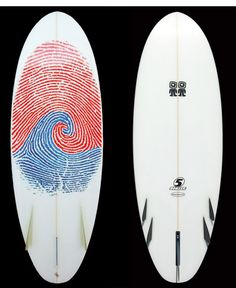 "Campbell Brothers Surfboards | ""Mini Bonzer Light Vehicle."" The Campbell Brothers, Malcolm and Duncan, invented the three-fin surfboard in Oxnard, California, in 1970. They're still going strong, hand-shaping the best boards in the world. Original art on this piece is by Jacob Campbell. -KB"