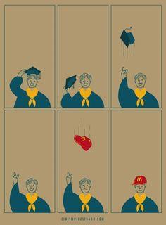 Zynische Illustrationen von Eduardo Salles   Was is hier eigentlich los