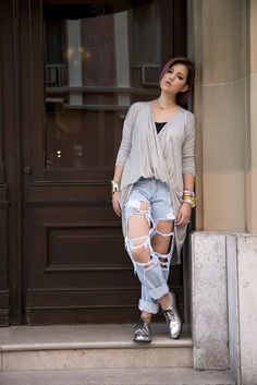 The Boyfriend Ripped Jeans - Mexican Fashion Blog, Nancy Nannuck, Fall, Trends 2014, Street Style México #boyfriendjeans #streetstyle #mexicanfashionblog #fall