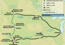 America's Great National Parks. Sweet! All on a train.