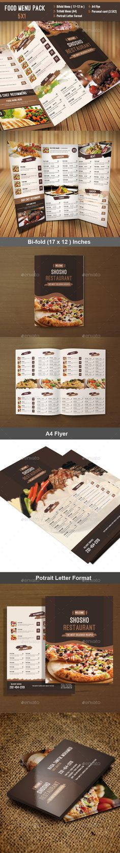 Food Menu Pack — Photoshop PSD #cafe #business • Available here → https://graphicriver.net/item/food-menu-pack/12005905?ref=pxcr