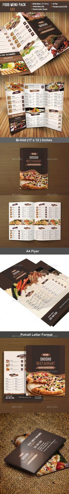 Food Menu Pack - Food Menus Print Templates