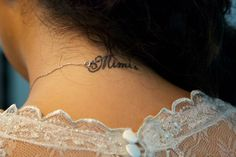 Tattoo details on the neck of bride ;)