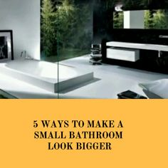 The small bathroom space can be made to seem spacious with the setting of the place