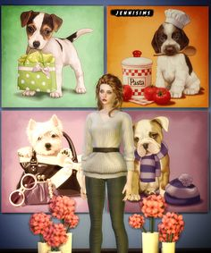 Jennisims: Downloads sims 4:Painting Puppy Love (18 designs)