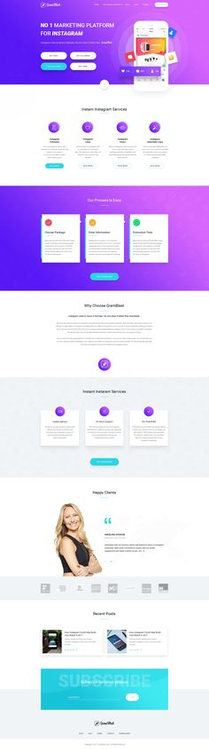 Here is the redesign of https://gramblast.com/  Site for increase likes, followers and views of your instagram posts and profile :) Don't forget to check the attachment.  Please show me some love a...