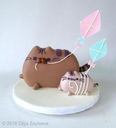 Father's Day Pusheen Cat Cake by Olga Zaytseva