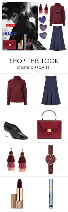 """red white blue"" by shamata on Polyvore featuring moda, BY. Bonnie Young, Victoria Beckham, Skagen, Estée Lauder ve Jennifer Meyer Jewelry"