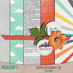 FREE Mini Kit by Meagans Creations / The August 2015 DigiScrap Parade - World Geography 101