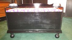Old Toy Box Turned To Clemson Bench U0026 Storage For Apt.