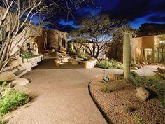 desert hard scape  backyard