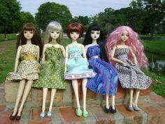 J dolls in homemade dresses