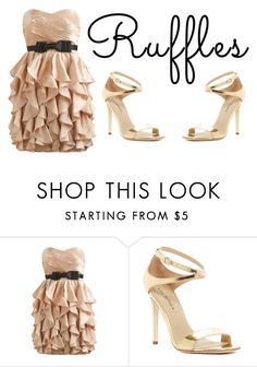 """Ruffles"" by peachflame ❤ liked on Polyvore featuring Arden B., Via Spiga and ruffles"
