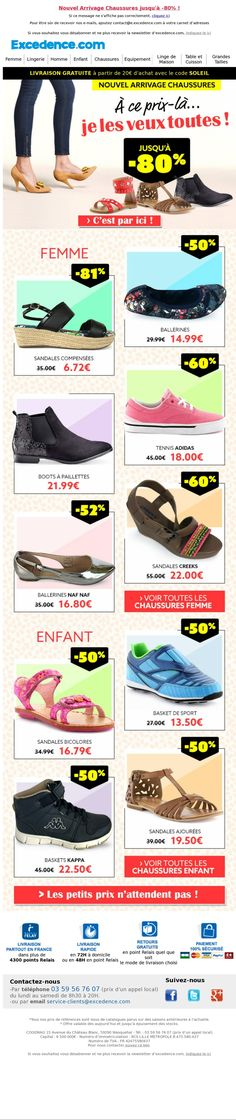 Excedence / newsletter Chaussures 28 juillet 2017 / crea DDC