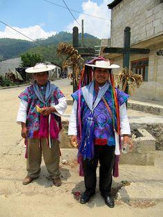 Tzotzil Men in Traditional Clothing, Zinacantan, Chiapas, Mexico by Bencito the Traveller, via Flickr