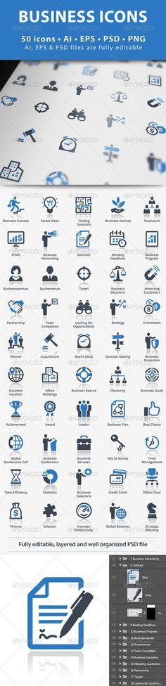 Buy Business Icons - Blue Series by on GraphicRiver. This set contains 50 Business Icons that can be used for designing and developing websites, as well as printed materi. Free Web Design, Web Design Icon, Web Design Inspiration, Logo Design, Best Icons, Affinity Designer, Graphic Design Projects, Social Media Icons, Mobile Design