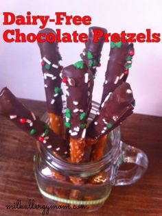 Milk Allergy Mom: Dairy-Free Chocolate Covered Pretzels with VIDEO! {oh my}
