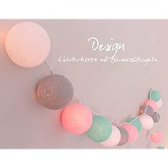 Baby's Room 'Cotton Ball String Light Cotton Ball Lights – For Indoor Use