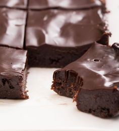 "Secretly healthy ""unbaked"" brownies. dairy-free, egg-free, raw, vegan, & gluten-free."