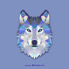 black and blue wolf tattoo geometric - Google Search