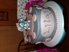 Fun first birthday elephant cake! Waited 6 years to do a girl cake!