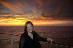 Sharl Cline, Director, Sales & Operations - catching the sunset from aboard the Celebrity Silhouette.