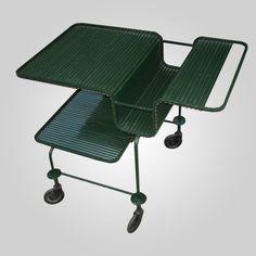 Metal Serving Cart, Mathieu Matégot, 1960.