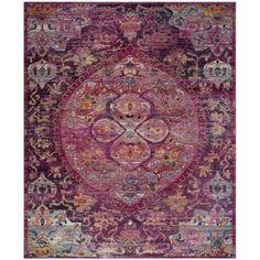 Safavieh Crystal Pink/ Purple Area Rug (9' x 12')