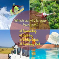 Which activity is your favourite? #Weekend #FridayFeeling