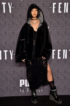 Rihanna from New York Fashion Week Fall 2016: Star Sightings Turn up for RiRi! The singer attends her FENTY PUMA by Rihanna AW16 show.