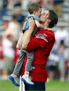So cute. Tom Brady