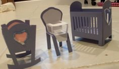 Download my baby furniture collection of svg files     There is a crib, cradle, play pen, carriage and high chair. I hope they s...