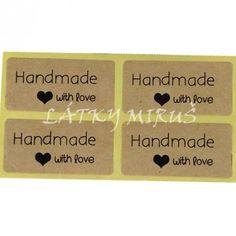 Nálepky Hand made (6ks)