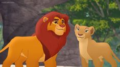 A shot of Simba and Nala from The Lion Guard. The Lion Guard Nala Lion King Series, Lion King Fan Art, Lion Art, Simba And Nala, King Simba, Big Cats Art, Cat Art, Lion King Pictures, Lion Pride