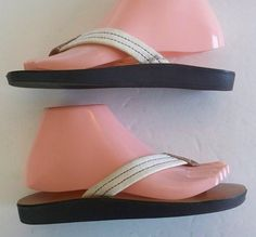 GAP Canvas Strap SANDAL Thong Flip Flop Ladies Size 6  =  Free  USA Shipping  #GAP #FlipFlops