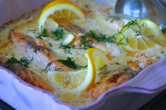 Lax i citronsås med kräftstjärtar | Jennys Matblogg | Bloglovin'