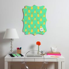 Allyson Johnson Cute Pineapples Quatrefoil Magnet Board | DENY Designs Home Accessories