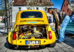 The Abarth at the old-timer meet in Jestetten Germany