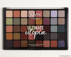 #Swatches up on the blog of the #NYX Ultimate Utopia Palette. Beauty Review, Nyx Cosmetics, Crafts For Teens, Fun Projects, Eyeshadow Palette, Swatch, Makeup Products, Baskets, Diy Crafts