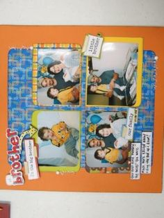 Used Bo Bunny paper and Me and my big ideas Stickers - scrapbook page layout, brother.