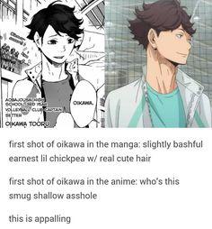 Is this legit? I'm asking cuz I don't read the manga xD #haikyuu #oikawatooru
