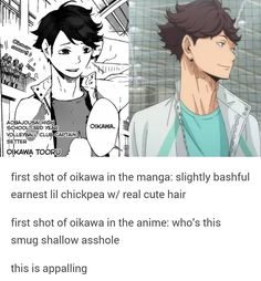 Is this legit? I'm asking cuz I don't read the manga xD  #haikyuu #oikawatooru