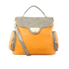 Nila Anthony Color Block Structured Satchel