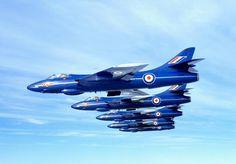 Hawker Hunter in 'Blue Diamond' livery