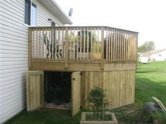 Shed Plans - James: Under deck storage shed Now You Can Build ANY Shed In A Weekend Even If You've Zero Woodworking Experience! Under Deck Storage, Shed Storage, Storage Ideas, Diy Storage, Smart Storage, Outdoor Storage, Deck Plans, Shed Plans, Deck Skirting