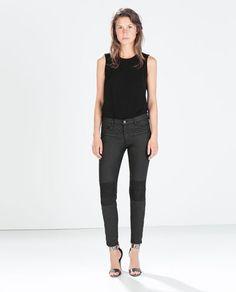 """Medium to low rise skinny pants/ pantalones muy entallados desd el muslo al tobillo 1""""abajo de la cintura"""