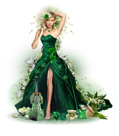 """""""""""The Gorgeous Green Emerald"""" ~ May birthday"""" by victorianheaven ❤ liked on Polyvore featuring art"""